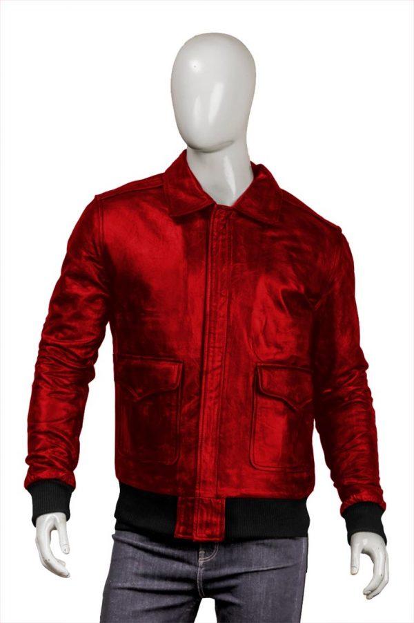 Mens Red Bomber Jacket