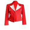 Womens Vintage Red Blazer