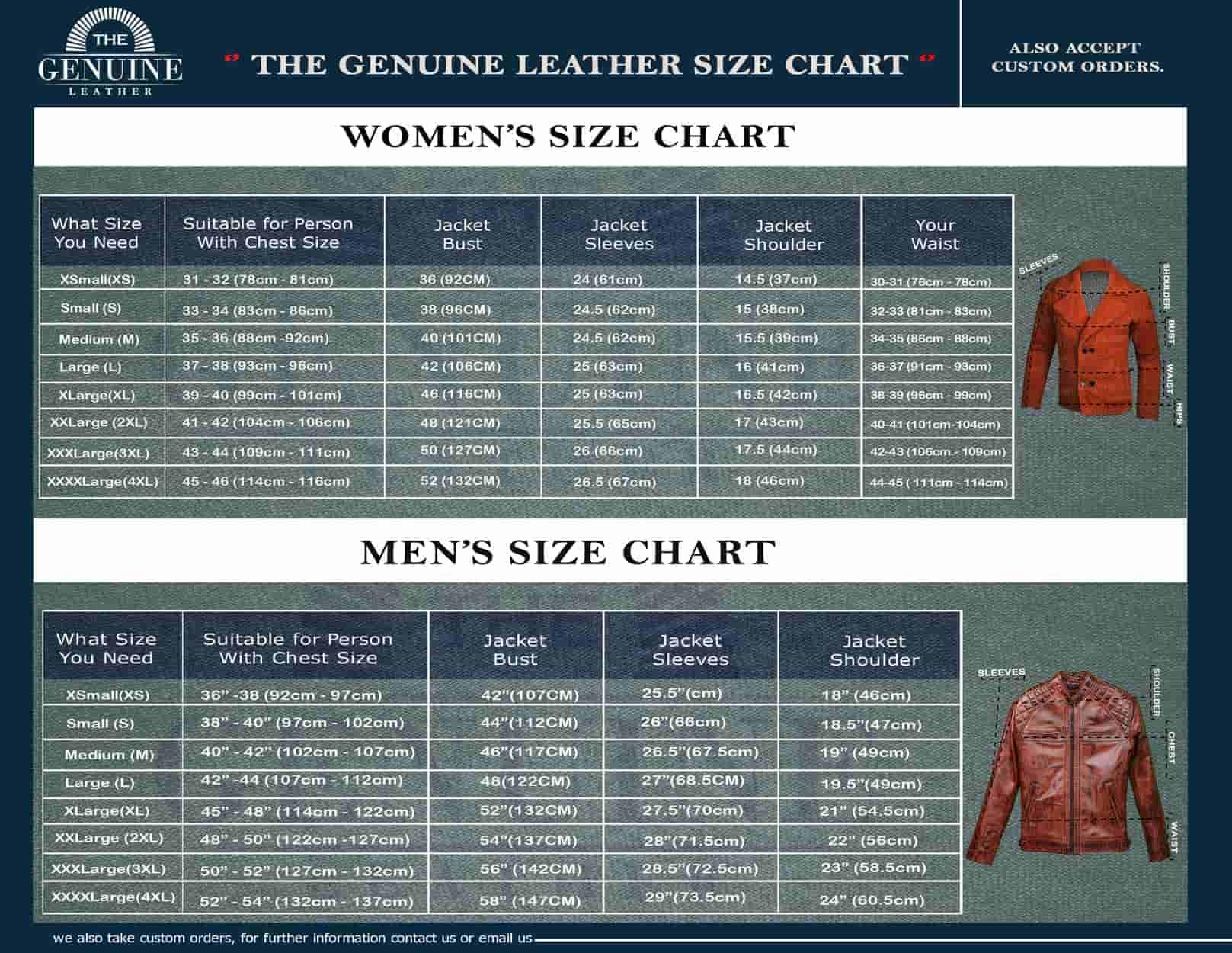 TGL Size Chart