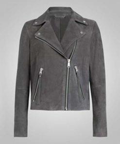 Fate The Winx Saga Bloom Grey Leather Jacket