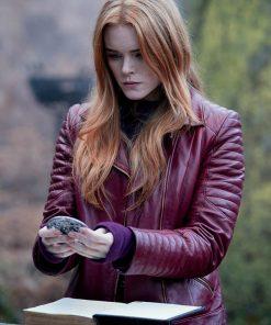 Fate The Winx Saga Bloom Maroon Leather Jacket