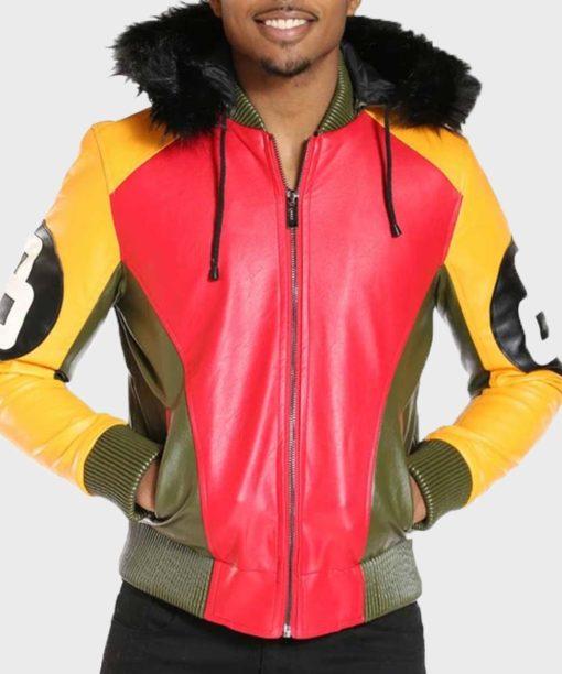 Men's 8 Ball Fur Hooded Jacket
