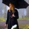 Nancy Drew Kennedy McMann Black Trench Coat