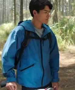 Power Rangers Dino Fury Ollie Akana Blue Hooded Jacket