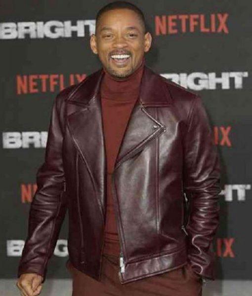 Aladdin Will Smith Promotion Burgundy Jacket