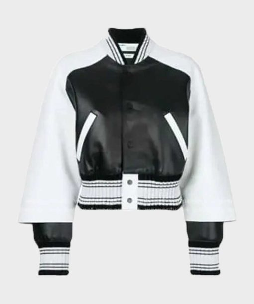 Bold and the Beautiful Paris Buckingham Leather Bomber Jacket