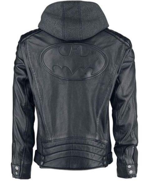 Dark Knight Batman Leather Hoodie Jacket