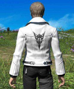 Final Fantasy 14 Scion Adventurer's White Leather Jacket