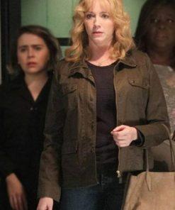 Good Girls Beth Boland Brown Cotton Jacket