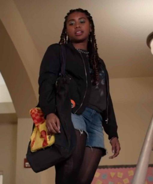 Moxie Lucy Hernandez Black Bomber Jacket