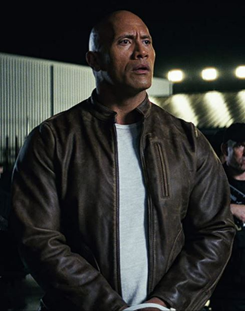 Rampage Dwayne Johnson Brown Leather Jacket (1)