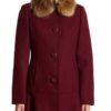 Riverdale S04 Veronica Lodge Maroon Coat