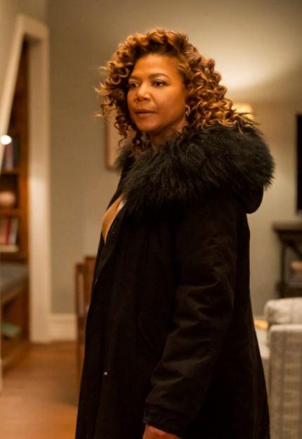 The Equalizer Queen Latifah Fur Collar Coat