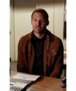 9-1-1 Eddie Diaz Brown Leather Jacket