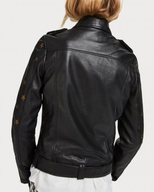 Batwoman Mary Hamilton Star Leather Jacket