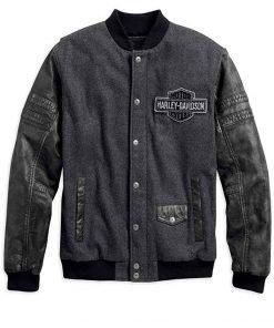 Harley Davidson Mens Bomber Leather Jacket