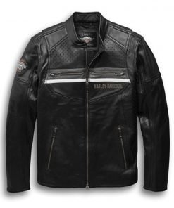 Harley Davidson Men's Llano Perforated Leather Jacket