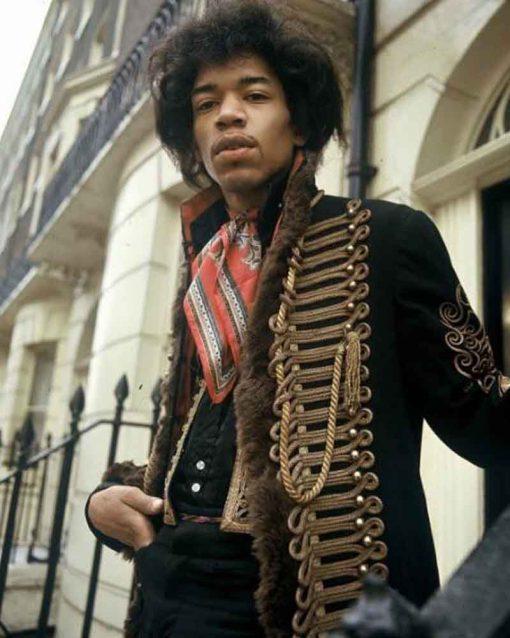 Jimi Hendrix Hussars Military Black Jacket