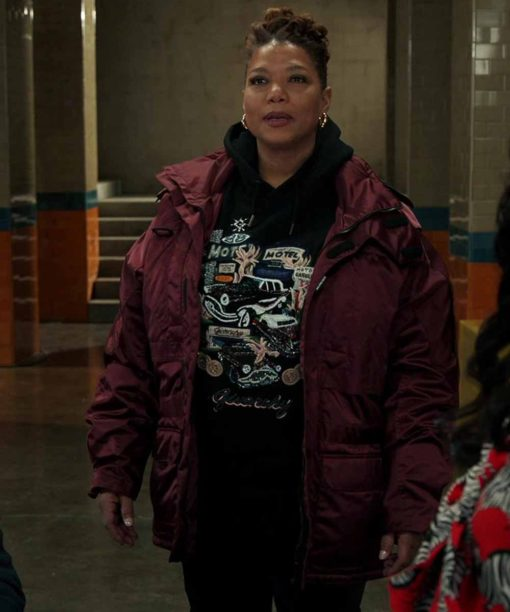 Queen Latifah The Equalizer Red Jacket