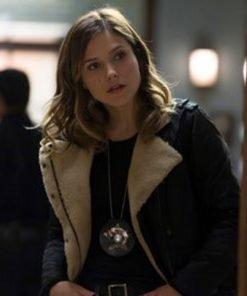 Chicago P.D. Erin Lindsay Black Shearling Jacket