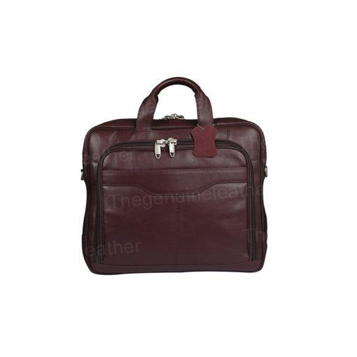 Computer Briefcase Business Case Maroon Bag