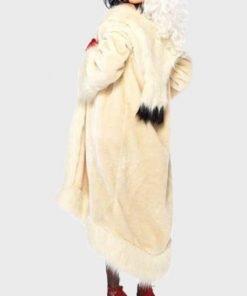Cruella De Vil Cream Fur Long Coat
