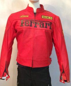 Ferrari Red Motorcycle Racing Jacket