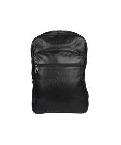 Handmade Genuine Black Backpack