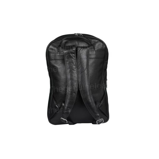 Handmade Genuine Black Leather Backpack