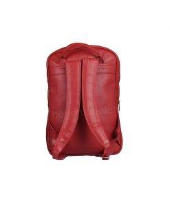 Handmade Genuine Red Leather Backpack