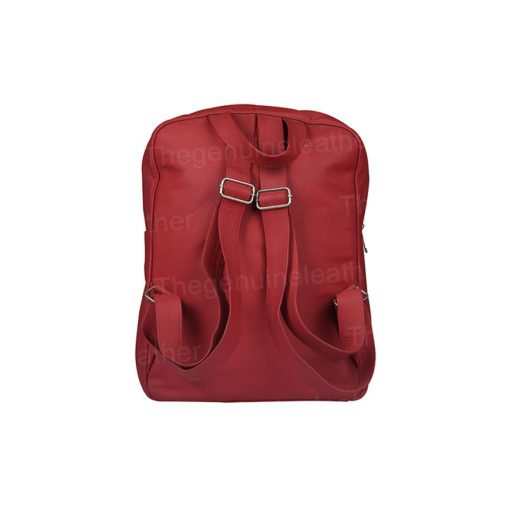 Handmade Red Leather Backpack
