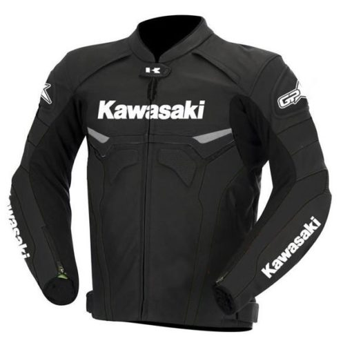 Kawasaki Street Biker Leather Jacket