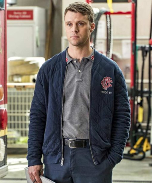 Matthew Casey Chicago Fire Quilted Jacket
