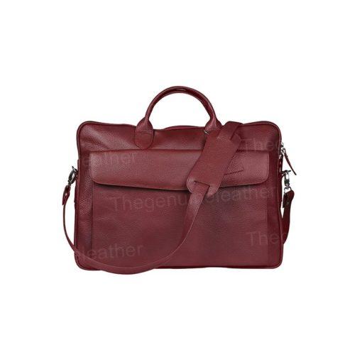 Torrance Laptop Maroon Leather Bag