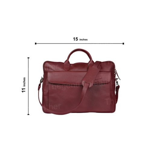 Torrance Laptop Messenger Maroon Leather Bag