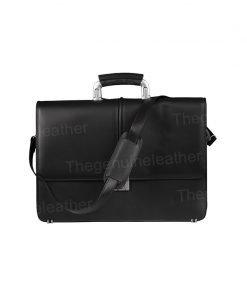 Venezia Black Briefcase Laptop Bag