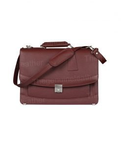 Venezia Briefcase Laptop Maroon Bag
