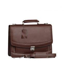 Venezia Brown Briefcase Laptop Bag