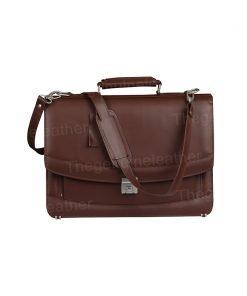 Venezia Brown Briefcase Laptop Leather Bag
