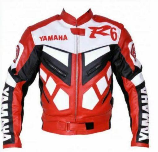 Yamaha Red Motorcycle Leather Jacket