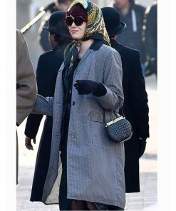Emma Stone Cruella 2021 Stella De Vil Houndstooth Coat