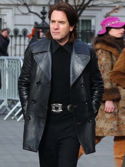 Ewan McGrego in Halston 2021 wearing Leather black Jacket