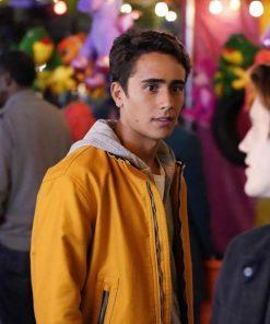 Love,Victor (Victor Salazar) Yellow Leather Jacket