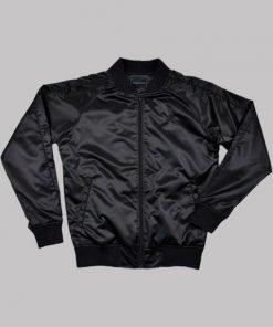 Lucifer Rising Rainbow Black Bomber Jacket