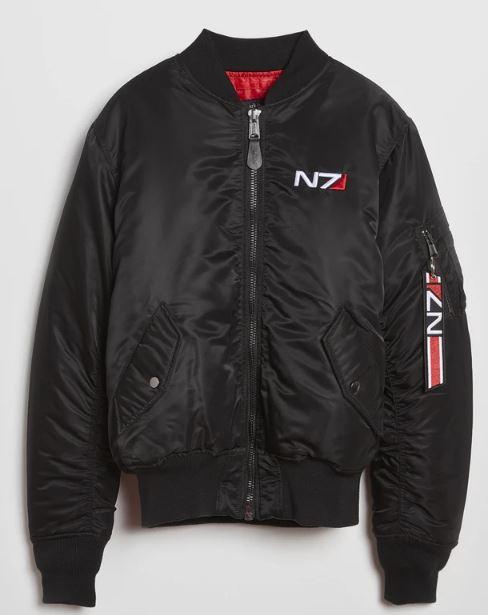 Men N7 Mass Effect 3 Bomber Jacket