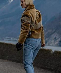 Rangnrok Theresa Frostad Eggesbo in Ragnarok (2020) Wearing Fur Brown Jacket