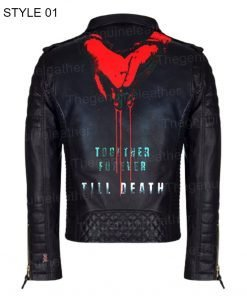 Till Death Black Leather Jacket