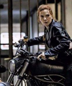 Black Widow 2021 Natasha Romanoff Motorcycle Leather Jacket